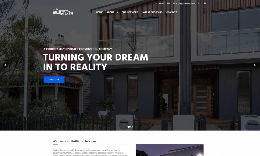 Website Design for Construction and Builders